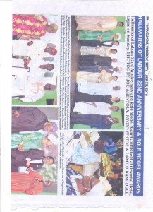Vanguard Newspaper publication 1-HLF 22nd Anniversary